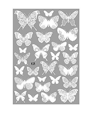 Ambiance Live Wandtattoo 26 tlg. Set Chic Butterfliess