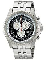 Akribos XXIV Men's AK517BK Ultimate Large Chronograph Bracelet Watch