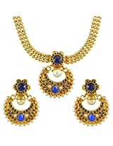 Ethnic Indian Bollywood Jewelry Set Traditional Fashion Necklace SetABNE0340BL