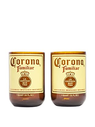 Set of 2 Corona Familiar Beer Tumblers