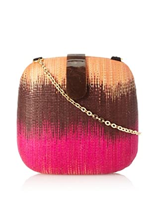 Rebecca Minkoff Women's Mini Ikat Minaudiere (Brown Magenta/Orange)