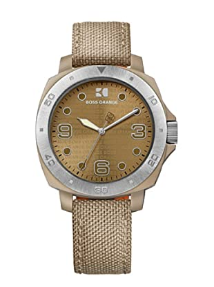 Boss Orange 1502288 - Reloj de Señora movimiento de quarzo con correa téxtil beige