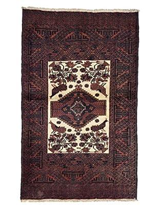 Darya Rugs Authentic Persian Tribal Rug, Red, 3' 4