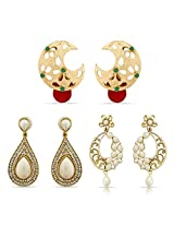 Attractive Designer Gold Plated Earrings for Women Combo-2290