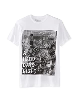 Lords of Liverpool Men's A Hard Days Night Crew Neck Tee (White)
