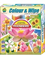 Applefun Color and Wipe Crayons - Flower, Multi Color