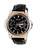 Exotica Black Dial Analogue Watch for Men (EFG-05-TT-BL)