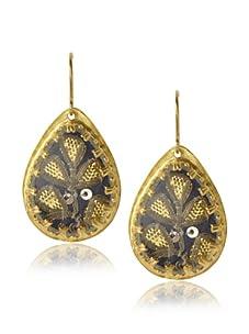 Presh Gold & Meadow Teardrop Earrings