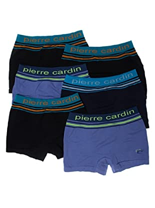 Pierre Cardin Pack 6 Boxer Caballero Sin Costuras Rayas (Surtido)