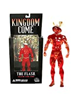 """Dc Direct Year 2004 Dc Comics Alex Ross """"Kingdom Come"""" Comic Series 7 1/2 Inch Tall Collector Action Figure The Flash With Wing Helmet"""