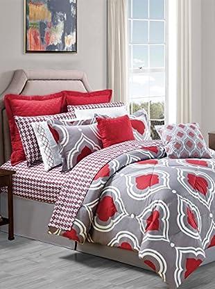 Luxury Home 14-Piece Amy Comforter Set