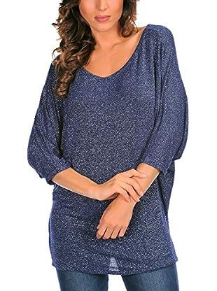 Bleu Marine Camiseta Manga Larga Mathilde