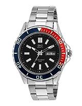 Q&Q Standard Analog Black Dial Men's Watch - A172-202Y