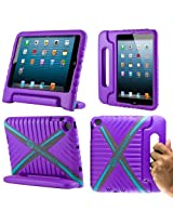 CoverBot iPad Mini Kids Case Cover with Handle Stand PURPLE Made From Tough EVA Foam