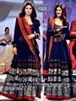 India Designer Bollywood Replica Actress Shilpa Blue Gown/Salwar Kameez Full Length