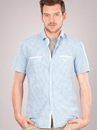 Hugo Boss Camisa Bolsillos (blanco)