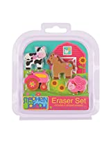 Stephen Joseph Eraser Set, Girl Farm
