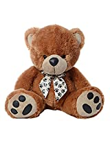 Dimpy Stuff Bear with Letther Paws, Brown (60cm)