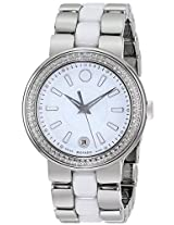 Movado Cerena Stainless Steel Diamond Ladies Watch 606624
