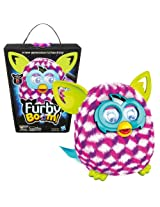 Hasbro Year 2013 Furby Boom Series 5 Inch Tall Electronic App Plush Toy Figure - Pink, White and Pur