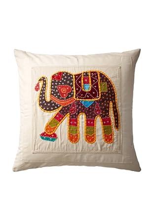 Elephant Pillow Case, Orange/Brown