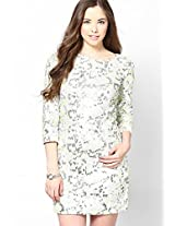 Green 3/4Th Sleeve Party Dress