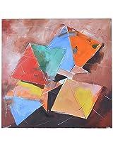 Liflad Artmart Acrylic and Canvas Kites Painting (51 cm x 51 cm)