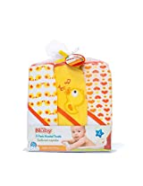 NUBY 3 Piece Terry Hooded Towel, Yellow