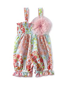 Baby Nay Smocking Balloon Romper (Yumi Flowers)