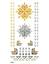 Spestyle Non Toxic And Waterproof Golden Gold And Glitter Temporary Tattoos Stickers Jewelry Design
