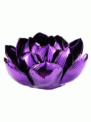 Lob Design Teelicht Lotus Metallic dunkellila