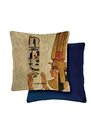 National Geographic Funda de cojín Egypt (Beige / Azul)