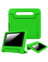 """Fintie Fire 7 2015 Case - Kiddie Series Light Weight Shock Proof Convertible Handle Stand Cover Kids Friendly for Amazon Fire 7 Tablet (Fire 7"""" Display 5th Generation - 2015 release), Green"""