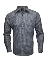 Turtle Black Checks Formal Slim Fit Shirt