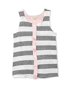 Upper School Girl's Button-Front Tank (Pink)