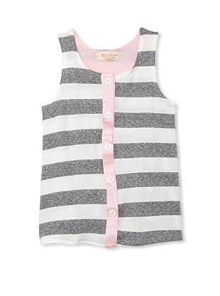 Upper School Girl's Button-Front Tank (Pink)