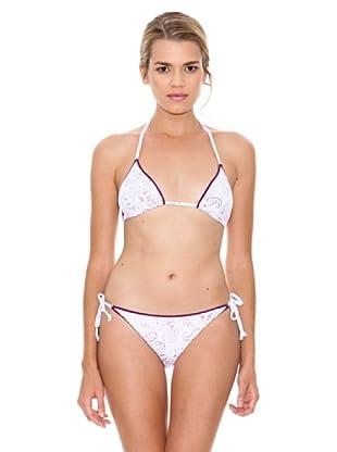 Monoplaza Bikini Light (Blanco / Granate)