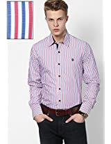 Striped Red Casual Shirt Mufti