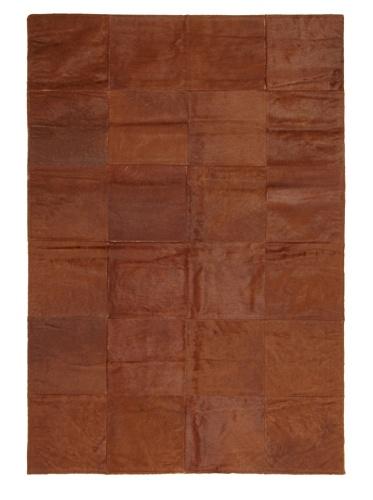 Hide Rug Brown Patchwork, 4' x 6'