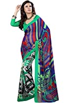 Vibes Cotton Patch Work Saree (S2-14010A _Multi-Coloured)