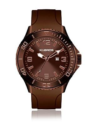 K&BROS Reloj 9563 (Marrón)
