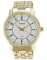 Timex Classics Analog Light Champagne Dial Men's Watch - TI000V80100
