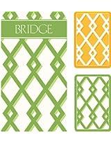 Trellis Bridge 2 Score Pads Gift Set Playing Cards (Jumbo Type)
