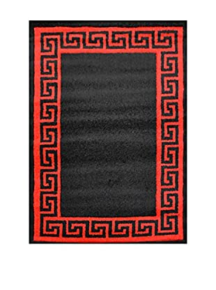 Chic Orange Teppich Verso schwarz/rot 120x170 cm