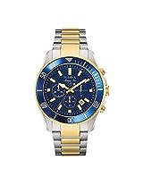 Bulova Marine Star Analog Blue Dial Men's Watch - 98B230