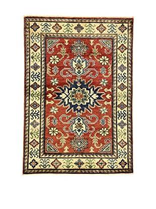 Eden Teppich Uzebekistan rot/creme/blau 107 x 152 cm