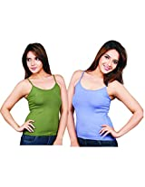 Clifton Women's Camisole's Pack of 2 Pieces - Olive-Lavender - XXX-Large