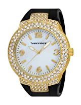 Vernier Women's VNR11073YGB Mother-Of-Pearl Dial Rubber Strap Quartz Watch