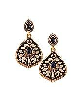 Shiny Blue Stone Earrings Set