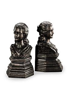 Venezia Bronze Finish Resin Bookends (Bronze)